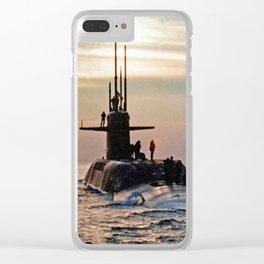 USS DANIEL WEBSTER (SSBN-626) Clear iPhone Case