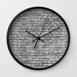 Vintage Brick Wall Wall Clock
