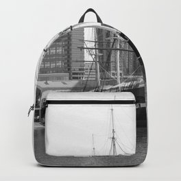 A US Frigate Ship in Baltimore, MD Backpack
