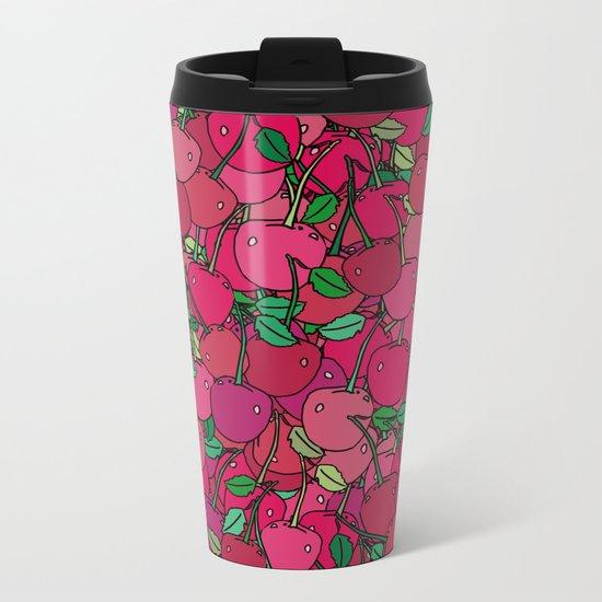Cherry Mix Metal Travel Mug