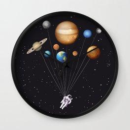 Space traveller art print Wall Clock