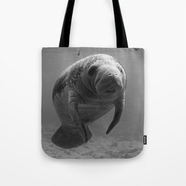 Manatee One B&W Tote Bag