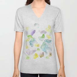 170722 Colour Loving 3 |Modern Watercolor Art | Abstract Watercolors Unisex V-Neck