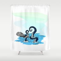 kraken Shower Curtains featuring Kraken by JKyleKelly