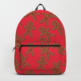 Gingerbread man red pattern Backpack