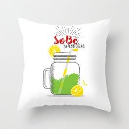SoBe: Summer, sun, sea & smoothies Throw Pillow