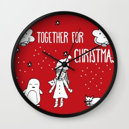 Together for Christmas Wall Clock