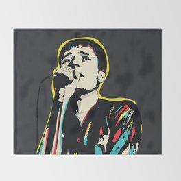 Ian Curtis Pop Art Quote / Joy Division Throw Blanket