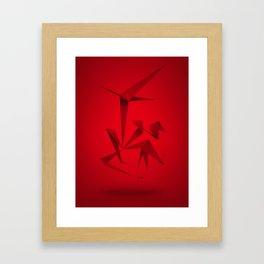 RED ANGLE Framed Art Print