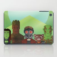 guardians of the galaxy iPad Cases featuring Guardians of the Galaxy by Casa del Kables
