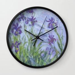 "Claude Monet ""Iris mauves"" Wall Clock"