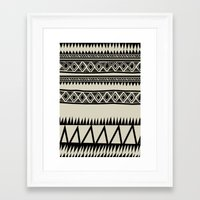 zebra Framed Art Prints featuring MALOU ZEBRA by Aztec