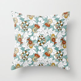You and Me_Words in flowers Throw Pillow