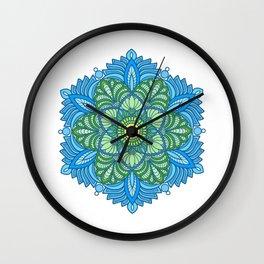 calm meditation mandala Wall Clock