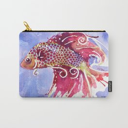 Fish Swirl Carry-All Pouch