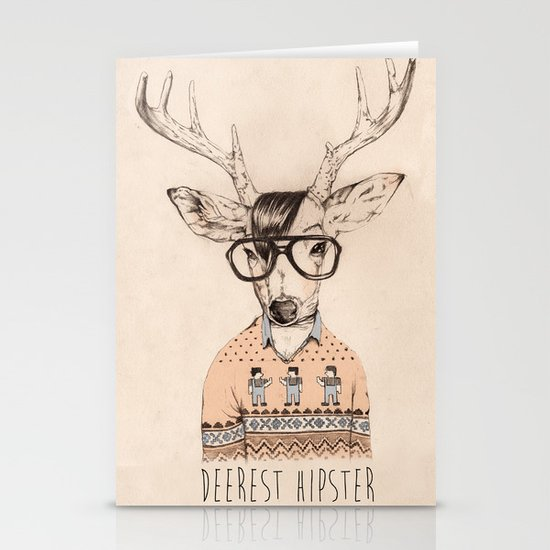 Deerest hipster Stationery Cards