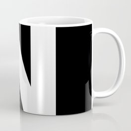 Letter N (White & Black) Coffee Mug