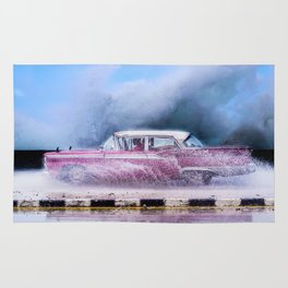 Waves and Classic Cars of the Malecón - 9 Rug
