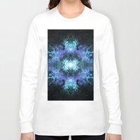 matrix Long Sleeve T-shirts featuring Cosmic Matrix by WES EXOTIC IMAGERY