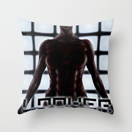 If looks could kill... Throw Pillow