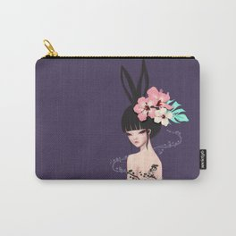 black bunny Carry-All Pouch