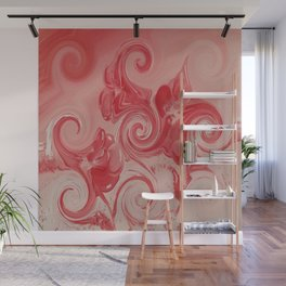 """Red Curl"" Wall Mural"