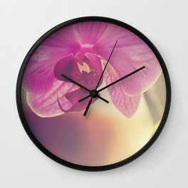 Morning Orchids Wall Clock