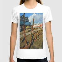 anchors T-shirts featuring Abandoned anchors by Ricarda Balistreri
