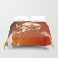 food Duvet Covers featuring FIREEE! by Dr. Lukas Brezak