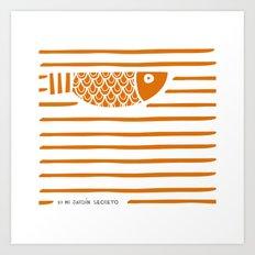 PIXE 1 (dark orange) Art Print