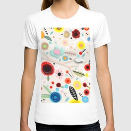Vintage Seeds Daisies Wild Field Floral T-shirt