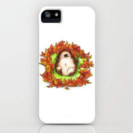 Fall Hedgie 3 iPhone Case
