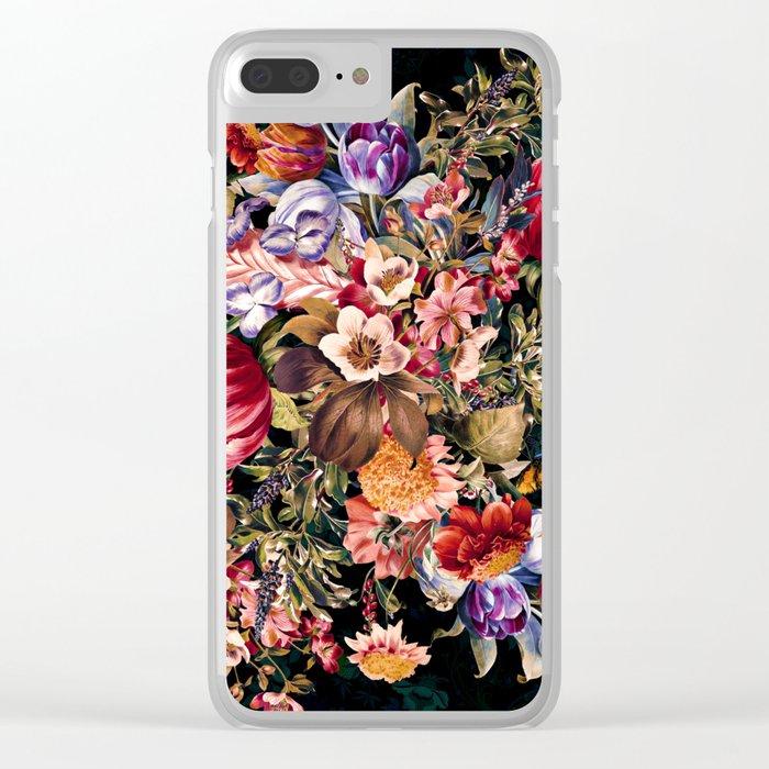 Midnight Garden VII Clear iPhone Case