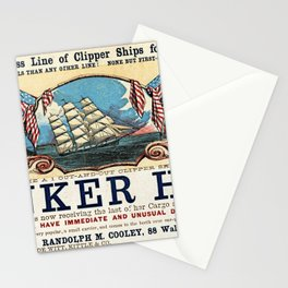Bunker Hill Clipper Ship Card Stationery Cards