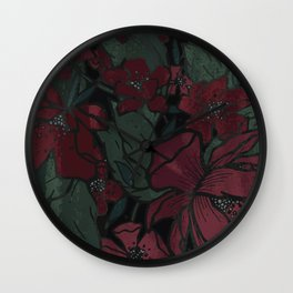 Rich Floral Wall Clock