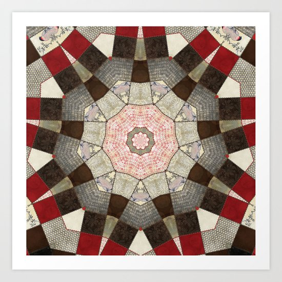 Ravenwood Patchwork Star Art Print