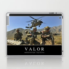Valor: Inspirational Quote and Motivational Poster Laptop & iPad Skin