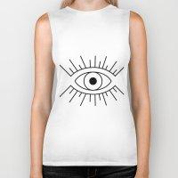 illuminati Biker Tanks featuring Illuminati Eye by Lucas de Souza