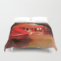 dancer Duvet Covers featuring Dancer  by Ethna Gillespie