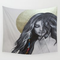 bohemian Wall Tapestries featuring Bohemian Angel by Iva Mara