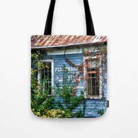 fleetwood mac Tote Bags featuring Old Fleetwood Church by Anthony M. Davis