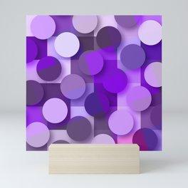 squares & dots violet Mini Art Print