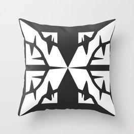 Dark Butterfly Throw Pillow