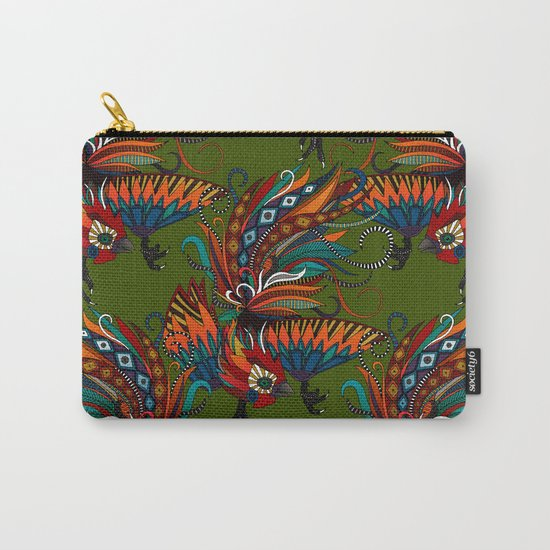rooster ink green Carry-All Pouch