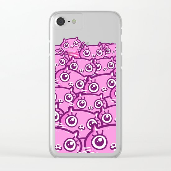 Crazy Cat Lady Dreams Clear iPhone Case