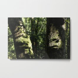 Between Two Trees Metal Print