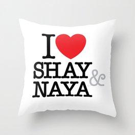I Heart Shay & Naya Throw Pillow