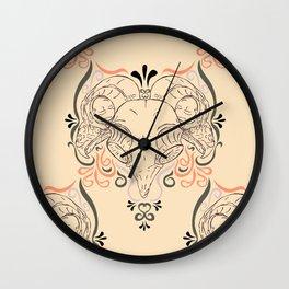 Eastern Screech Owl ~ Pink Wall Clock