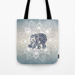 Elephant  Mandala Tote Bag