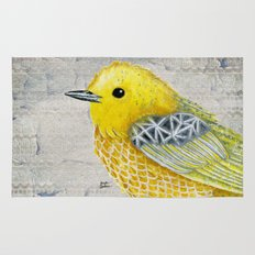Yellow Warbler Tilly (Vintage Edition) Rug